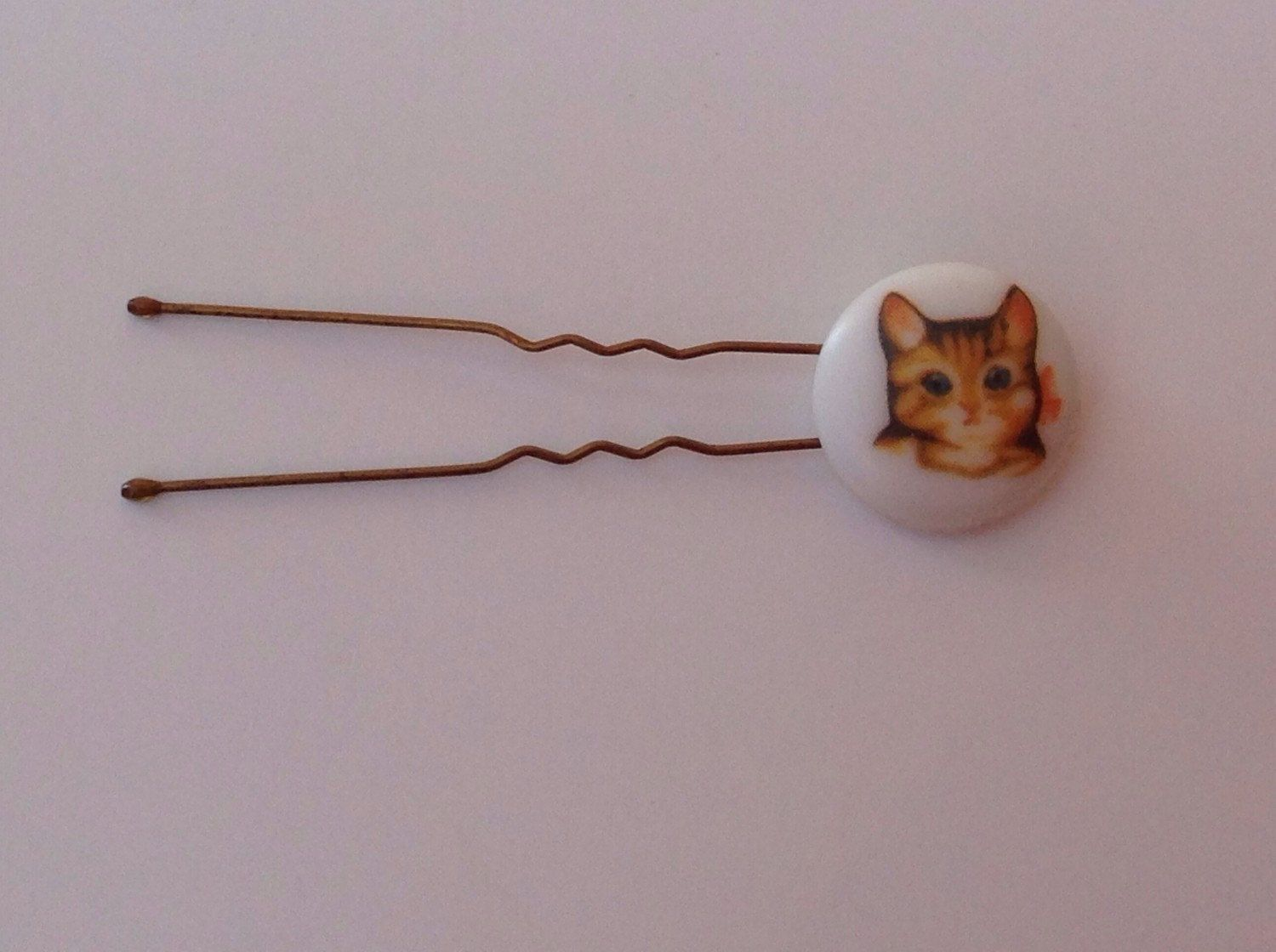 Charming Vintage Cat Blue Bonnet Duck Mouse Hair Pin Bobby Pin Bun Pin Youthful Historical Cat Duck Mouse Vintage Button Hair Accessories by CrazyVintageBoutique on Etsy