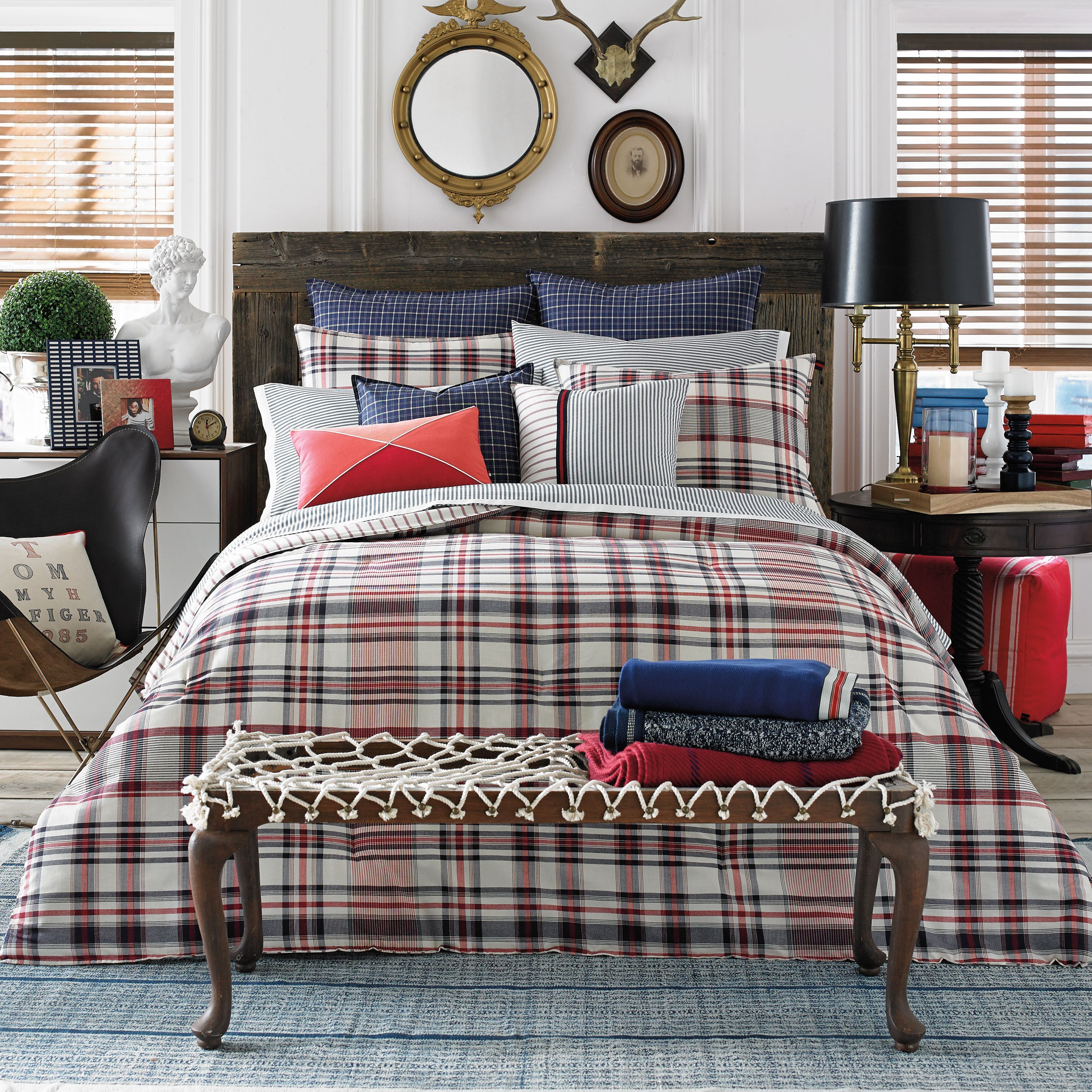 A lovely plaid to dress up your bed in softly woven cotton the