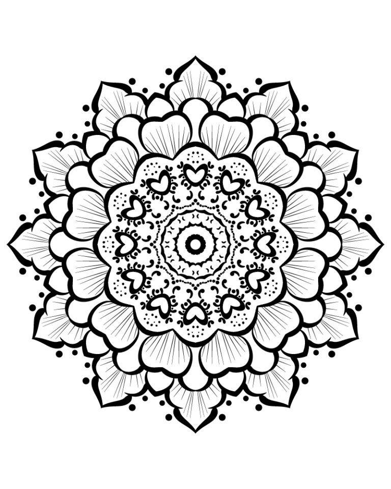Flower Fun M5 Color A Mandala Tattoo Mandela Zeichnen
