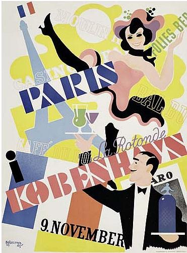 By Thor Bögelund (1890-1959), 1945, Paris  I Kobenhavn, Andreasen & Lachmann, Copenhagen. (Danish)