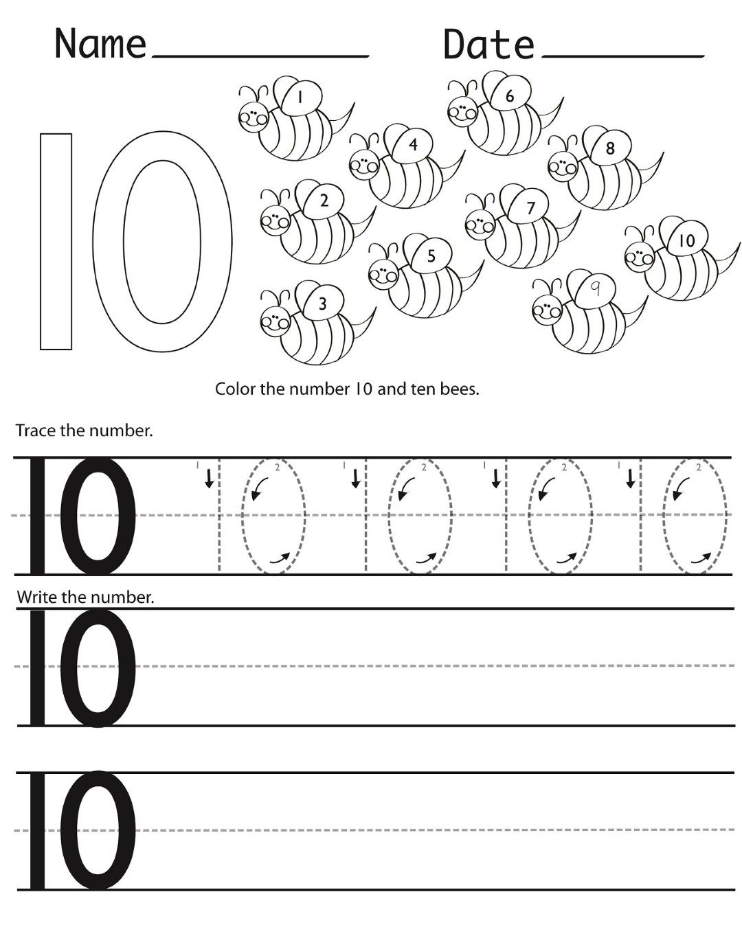 Kindergarten Coloring Pages And Worksheets With Images