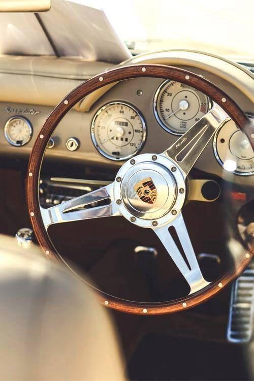 Porsche Speedster 356 Lenkrad (1948 – 1964) | Das hölzerne Lenkrad mit Edelstah…