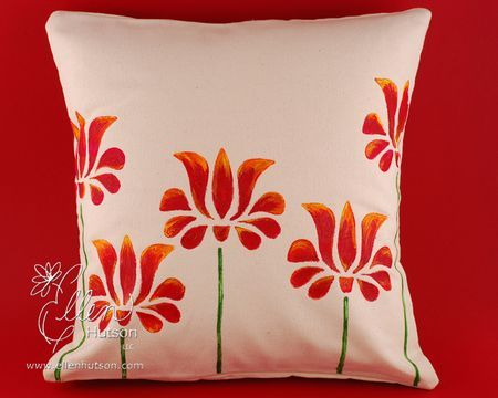 Hand Painted Canvas Pillow Cover For The Home Pillow