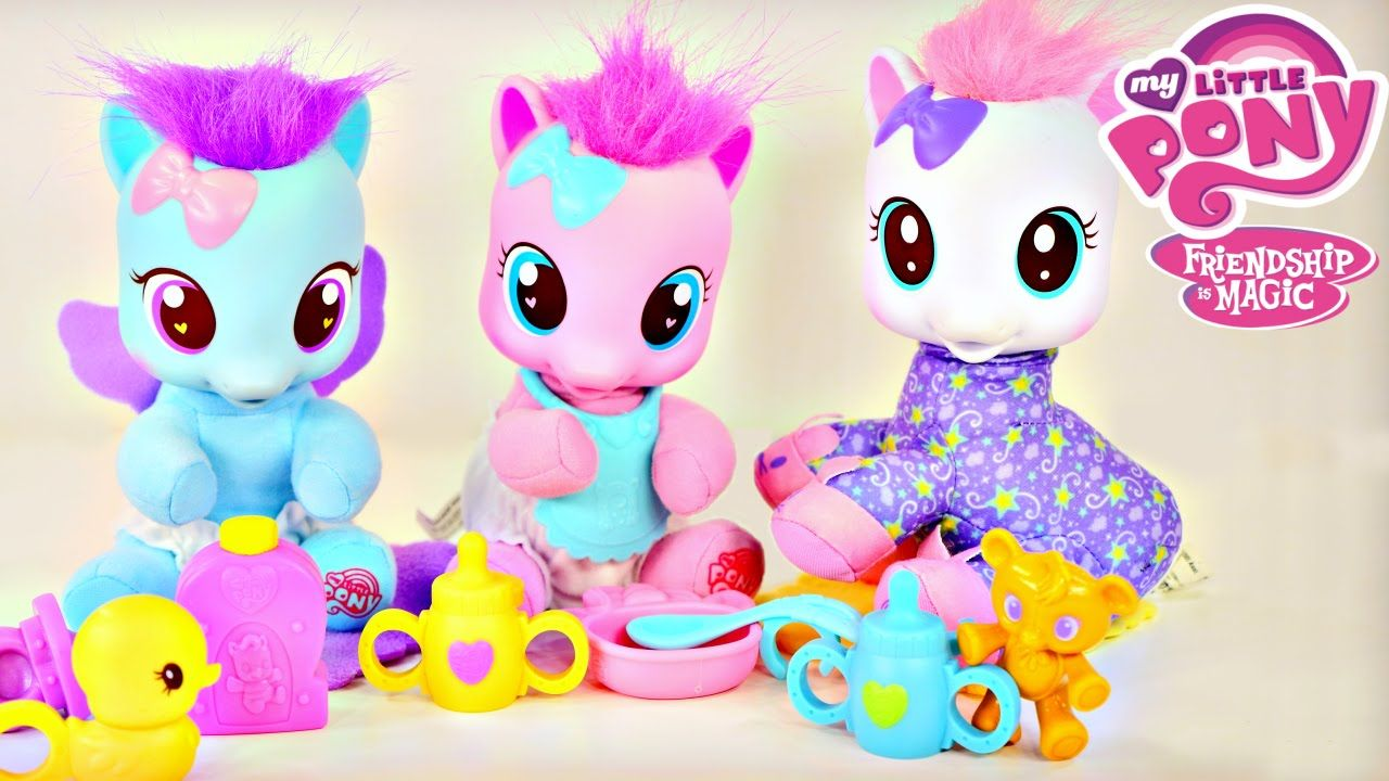 My Little Pony Baby Pinkie Pie CottonBelle Lullaby Moon MLP Toddler Poni.