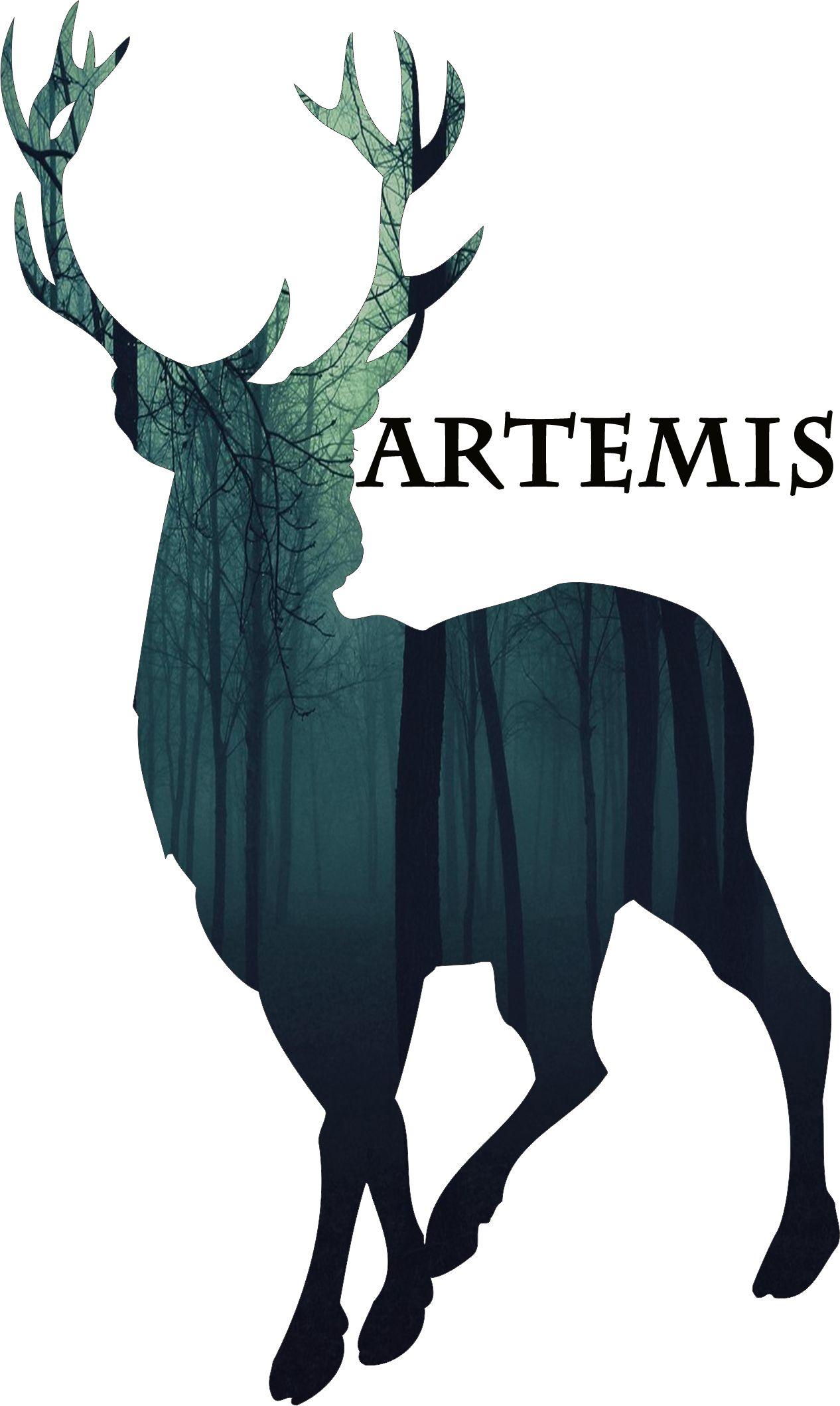 Decor Art Greek Mythology Artemis Deer On A Book Or Something