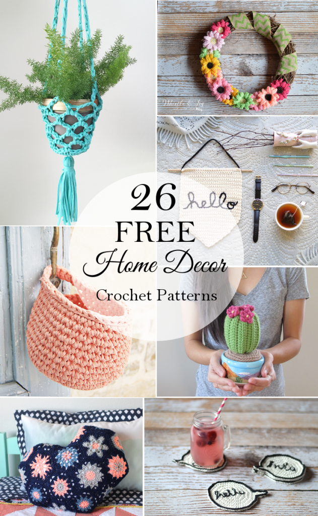 26 Free Crochet Decor Patterns | Proyectos de ganchillo, Patrón de ...