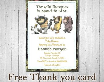 Where the Wild Things Are Baby Shower by CelebrativeDesign on Etsy