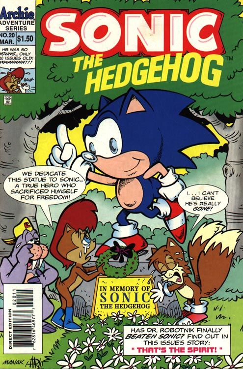 Sonic Comic 20 Archie Comic Books Sonic The Hedgehog Hedgehog Book
