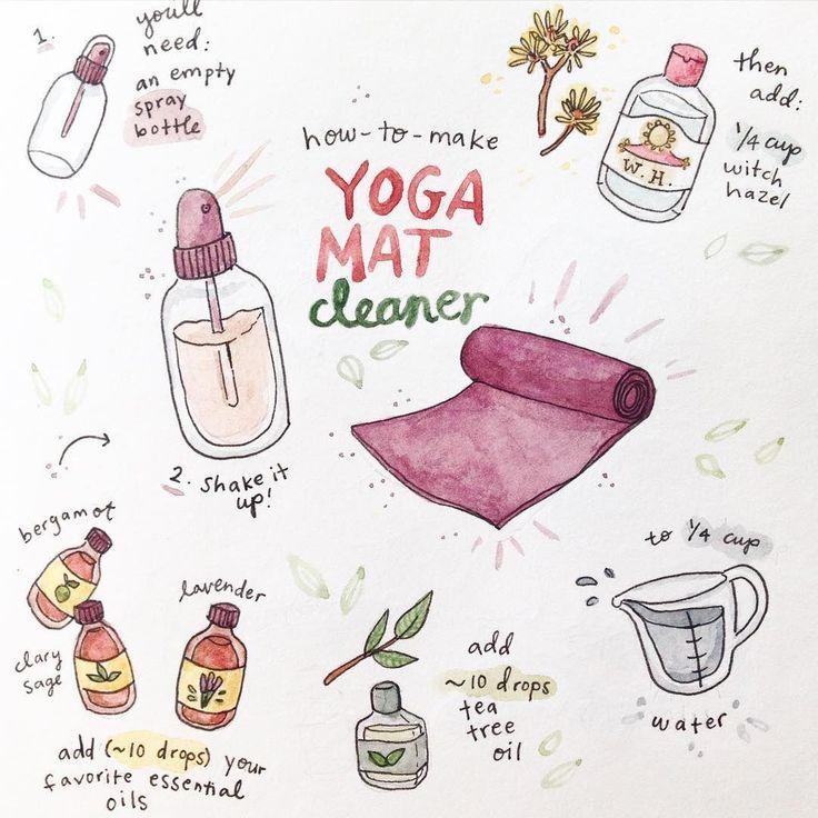 DIY: yoga mat cleaner #yogamatsideas - #CLEANER #DIY #mat #oily #yoga #yogamatsideas #fitnesshealth