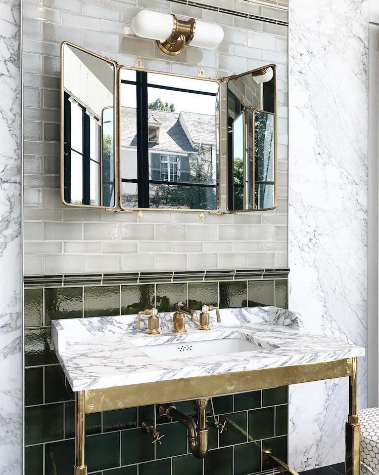 badezimer edel ausstattung messing marmor schwarz weiss - badezimmer schwarz weiß