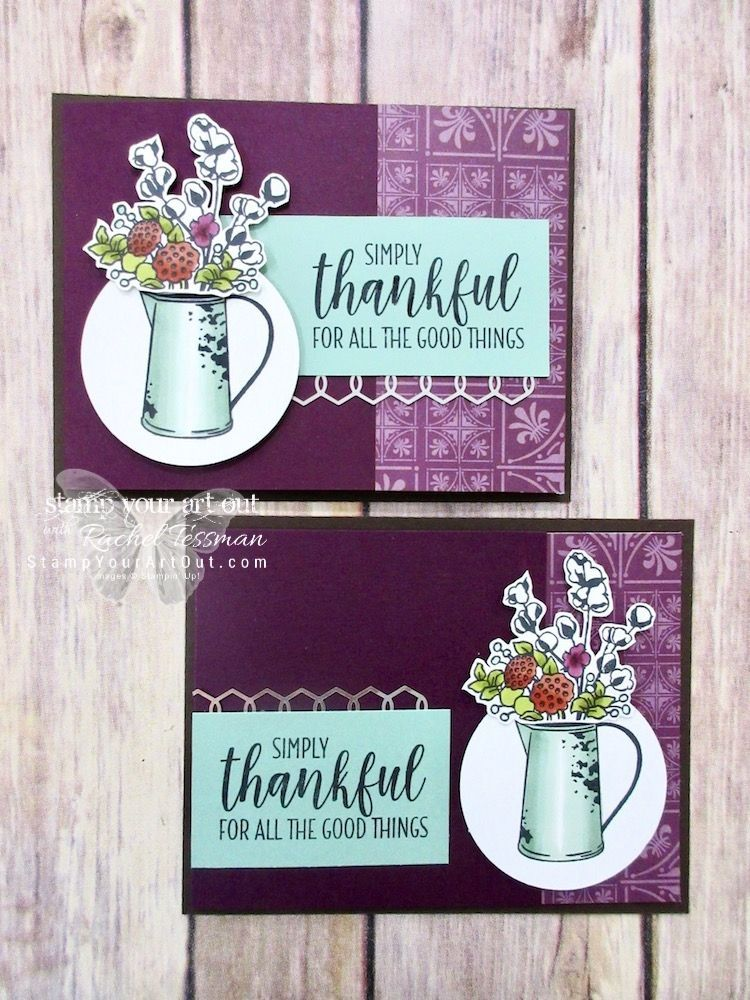 thankful for all the good things is part of Stampin up cards - Thankful For All The Good Things Natureart Country