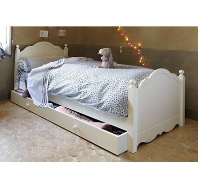Lit Lola 90 x 190 cm laqué blanc cassé Ideas for anais bedroom