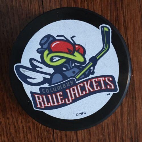 Vintage Rare Columbus Blue Jackets NHL Hockey Puck - original logo with Stinger please retweet