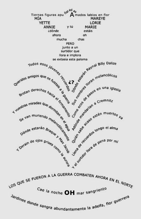 GUILLAUME APOLLINAIRE CALIGRAMAS PDF