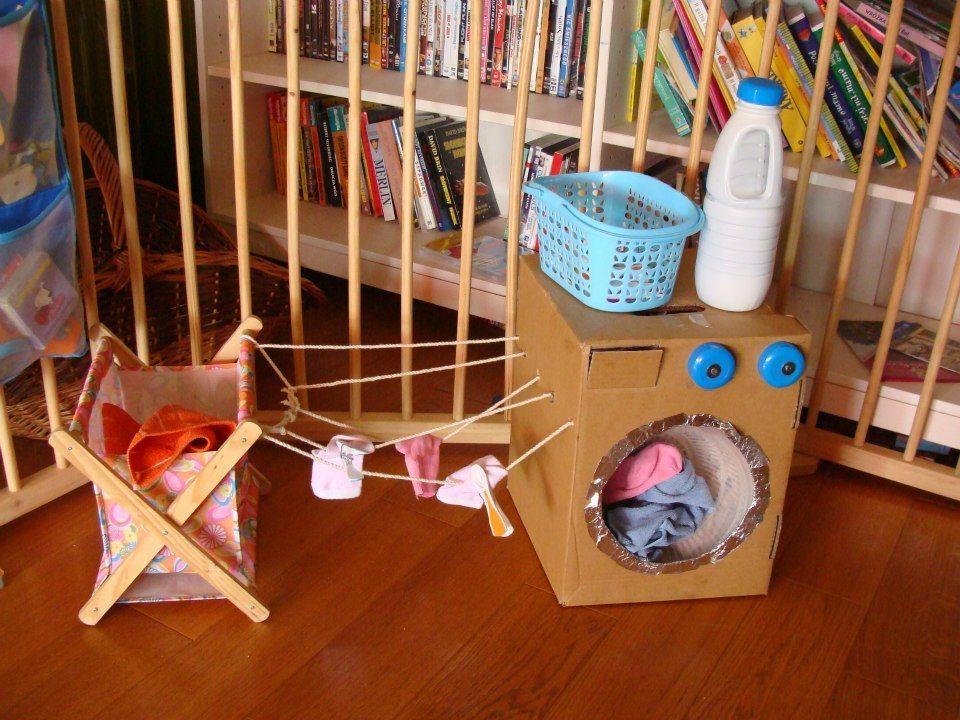 fabriquez une machine laver pour les petits trucs et bricolages salle de jeux. Black Bedroom Furniture Sets. Home Design Ideas