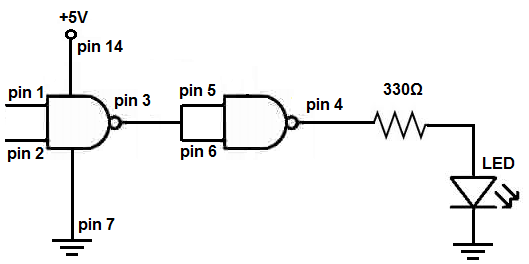 ANDGate circuit is a basic digital logic gate that