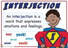 Interjection. Superhero themed grammar resource for Literacy KS1 and KS2