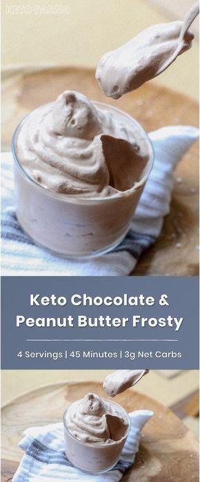 Keto Chocolate Peanut Butter Wendy's Frosty #ketosnacks