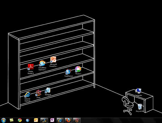 A different/innovative kind of wallpaper for your desktop