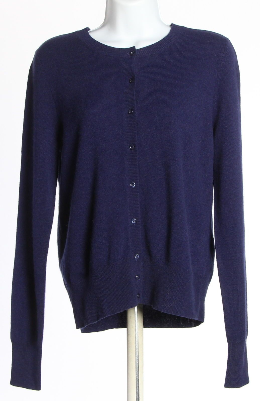 Womens LORD & TAYLOR Navy Blue Cashmere Solid Sweater Size Medium ...