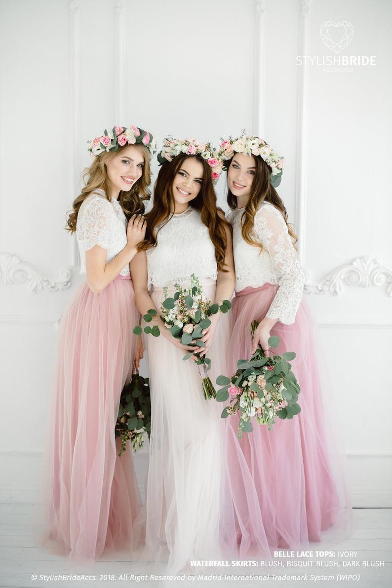 Boho Bridesmaids separates, Rustic bridesmaids dresses, Belle Lace ...