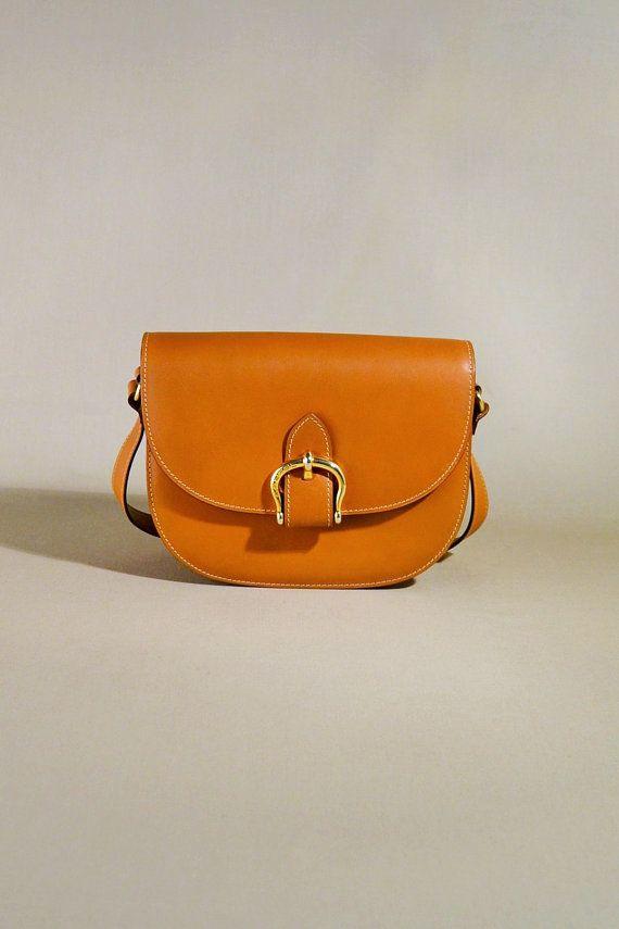 Vintage Lancel Cognac Brown Leather Bag, Shoulderbag, Shoulder Purse ...