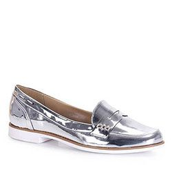 f39fdad90 Sapato Mocassim Feminino Brenda Lee - Prata | Sapatos / Shoes ...