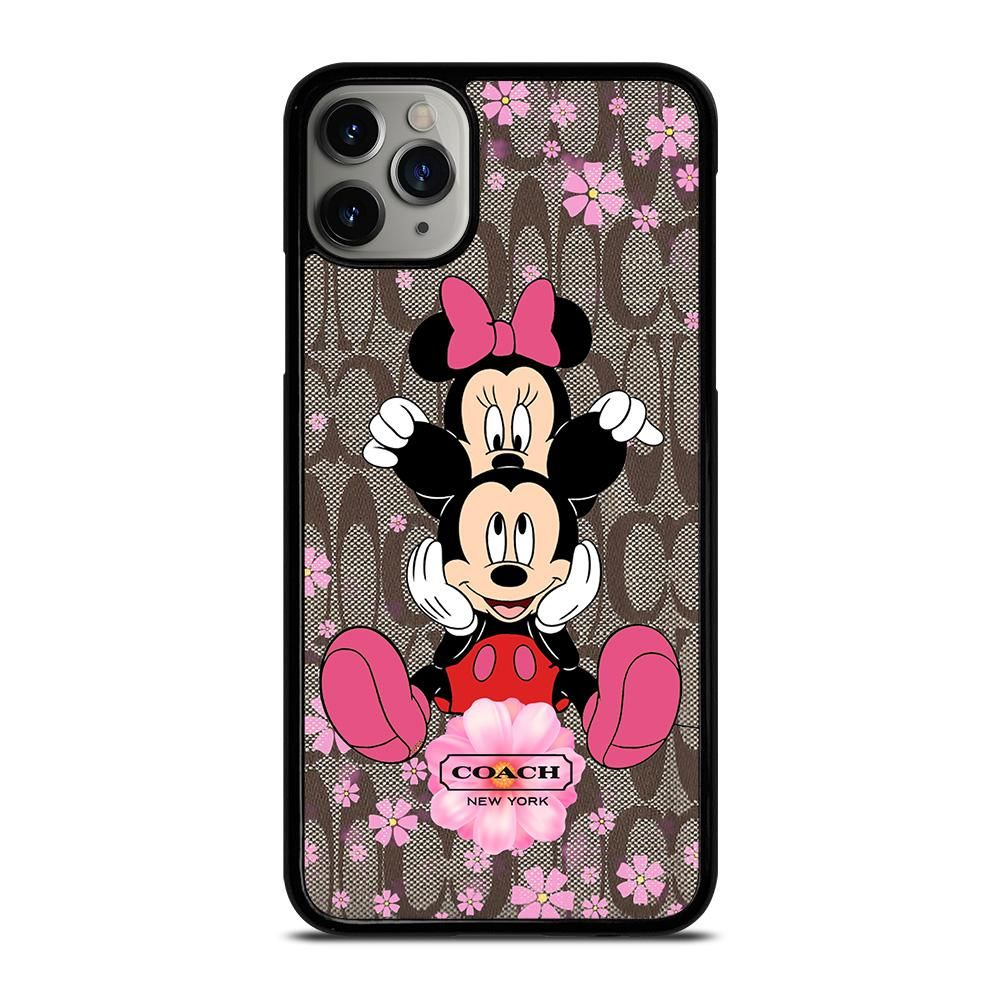 Coach mickey and minnie mouse iphone 11 pro max case cover