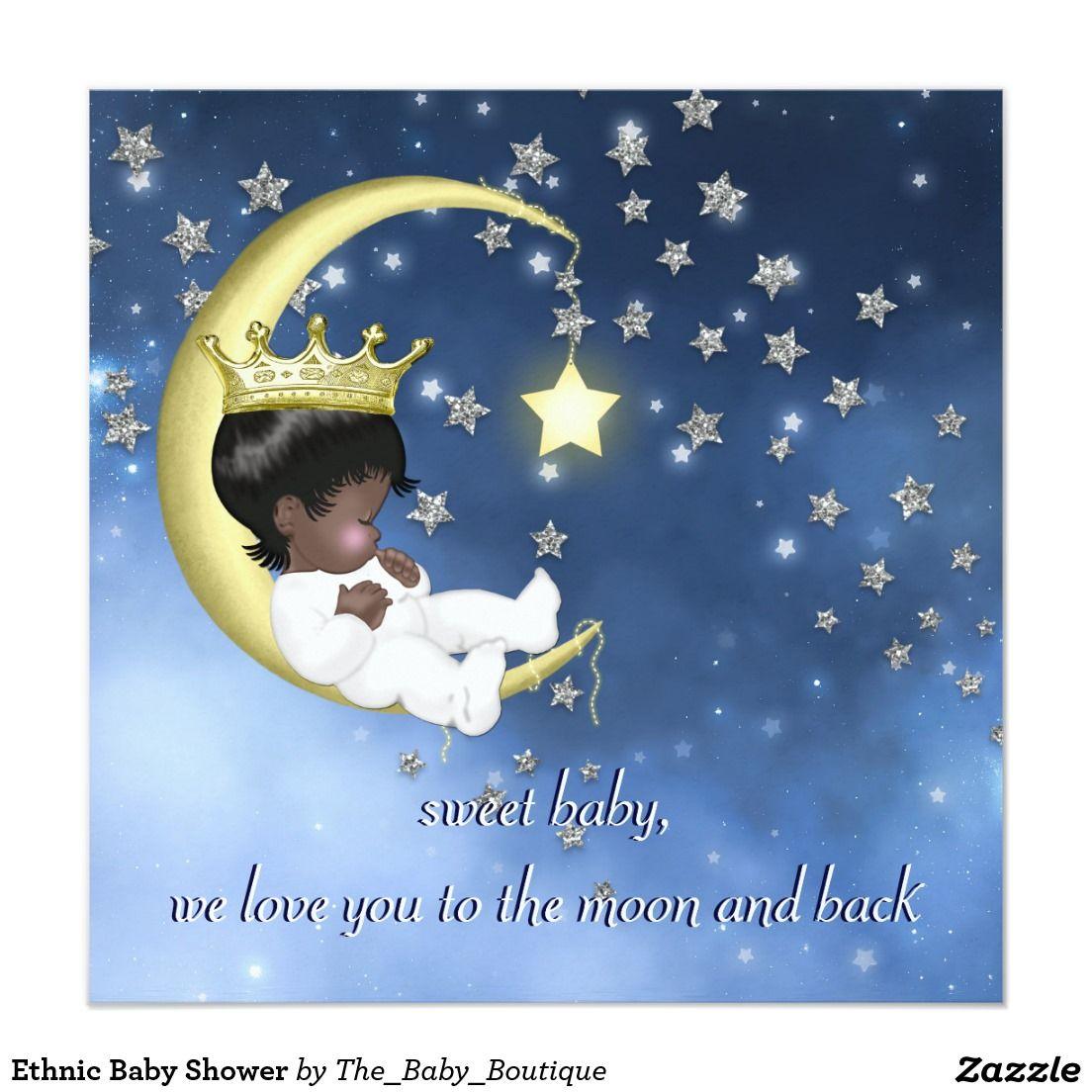 Ethnic Baby Shower 5.25x5.25 Square Paper Invitation Card | Ethnic ...