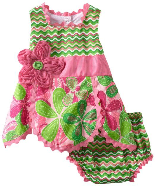 f6d0e1feb2 Amazon.com  Mud Pie Baby-Girls Newborn Little Sprout Petal Top and ...