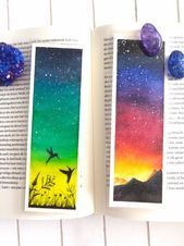 Bookmarks watercolor galaxy hand painted set of 2 gift for book lover small art gift ga Bookmarks watercolor galaxy hand painted set of 2 gift for book lover small art gi...