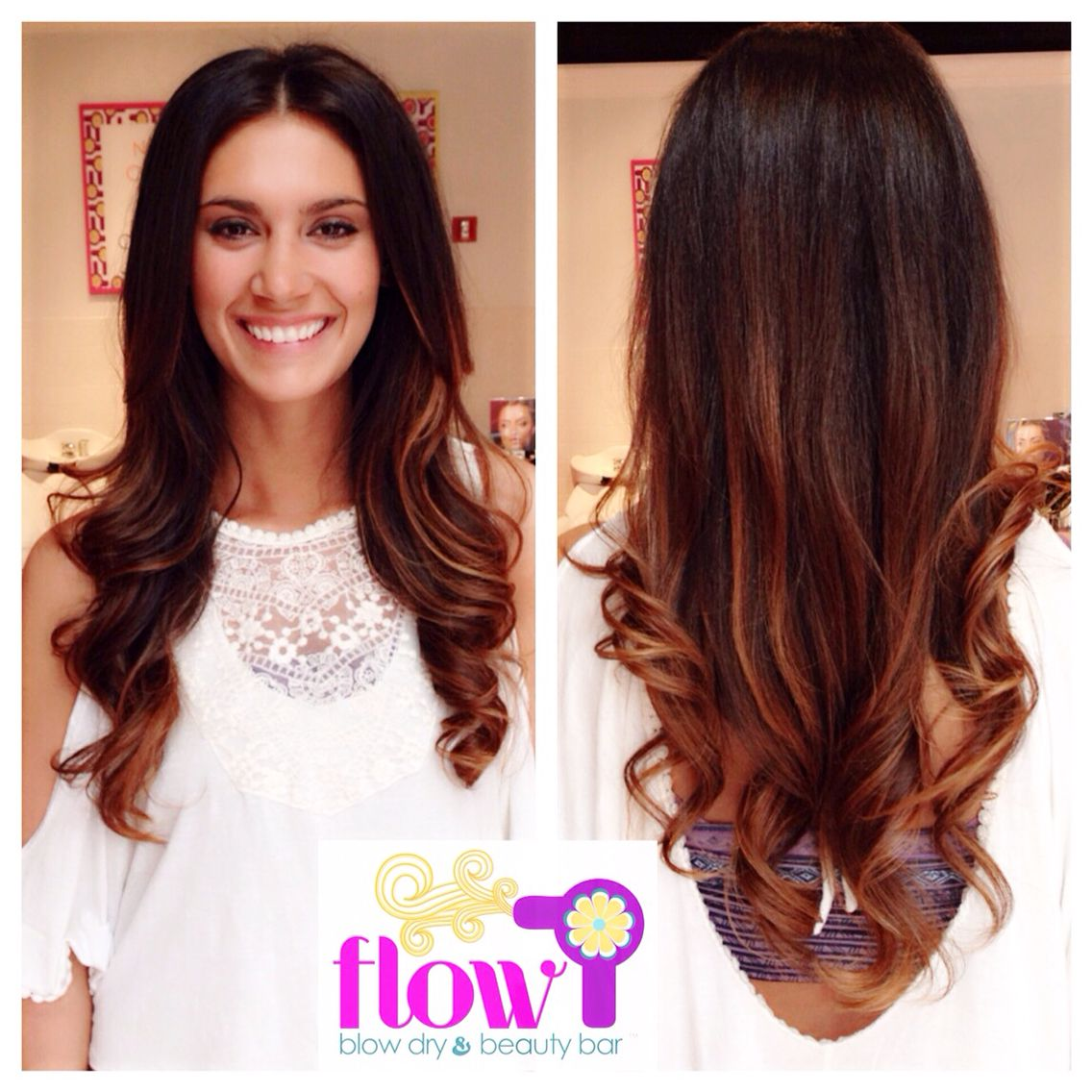 Beautiful blowout hair prettyhair blowdry flowblowdrybar