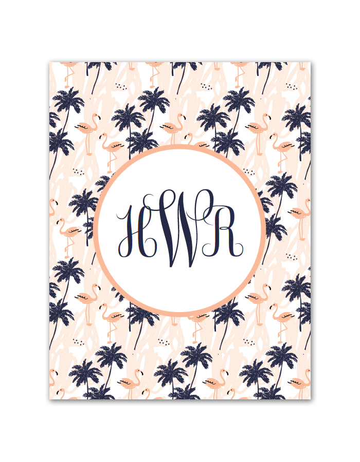 download and print this free flamingo palm tree monogram maker just follow the directions below to make your own monogram