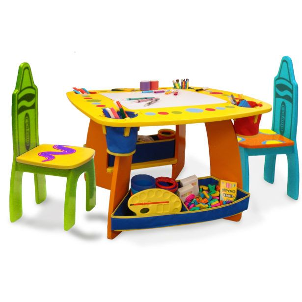 Furnitureawesome Colorful Childrens Folding Table And Chair Set