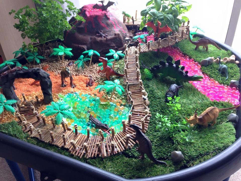 Dinosaur Land Tuff Tray Dinosaurier Miniaturgarten Dinosaurier Garten