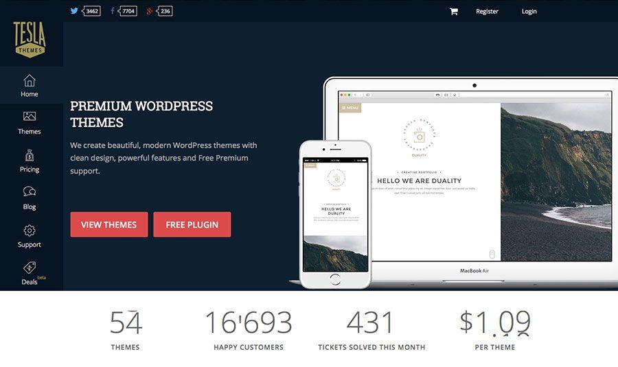 TeslaThemes Provides Premium WordPress Themes for any Demands