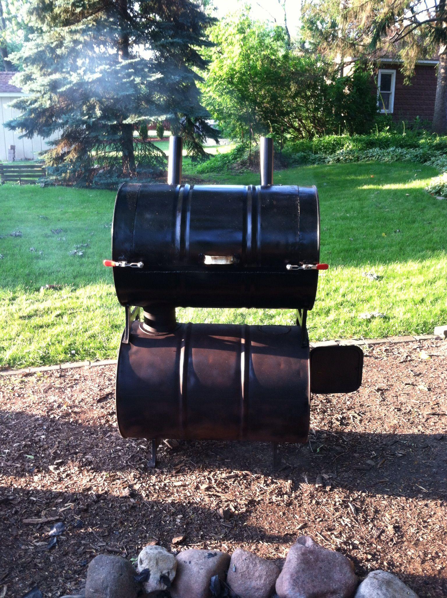 Homemade barrel smoker meat smoker diy bbq barrel smoker