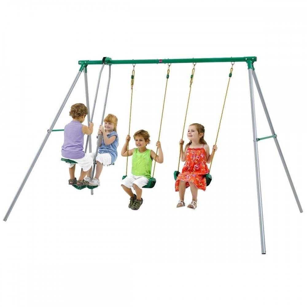 Plum jupiter outdoor play metal garden swing set outdoor toys