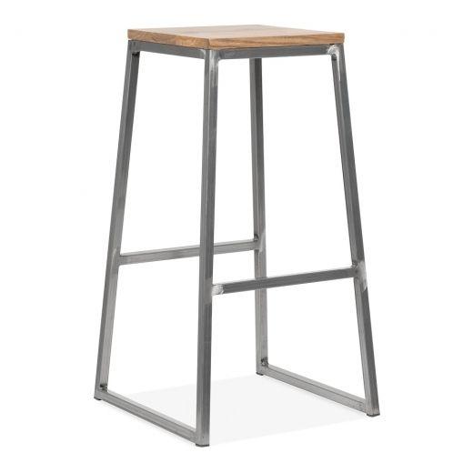 Consec Hocker mit Natürlichen Holz Sitz Rotguss 75cm Cult DE - bar für küche