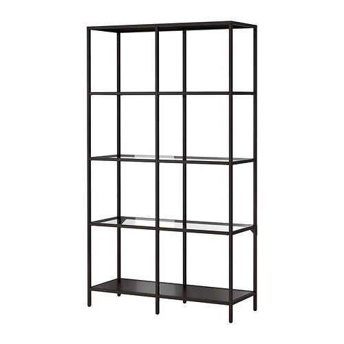VITTSJÖ Shelving unit IKEA Tempered glass and metal. Hardwearing materials that give an open, airy feel. $70