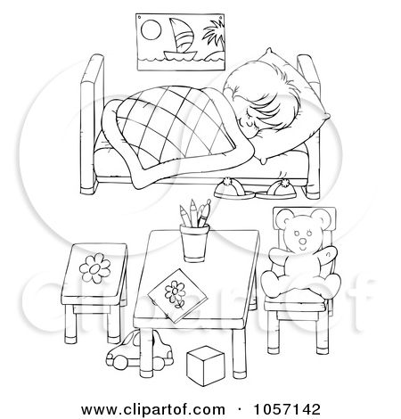 Coloring Book Images Children Resting On Bed Google Search