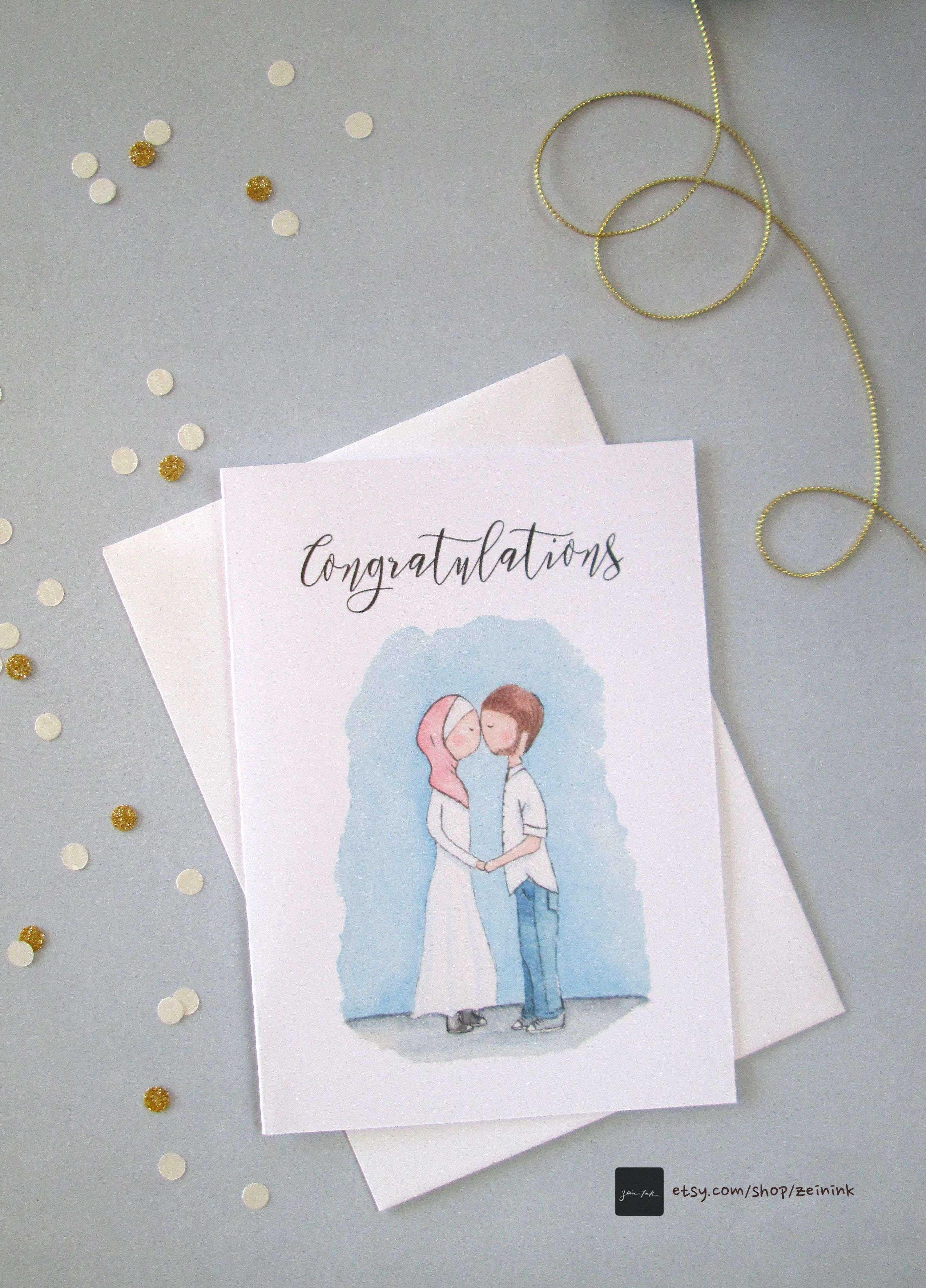 Watercolour Congratulations card available for download at