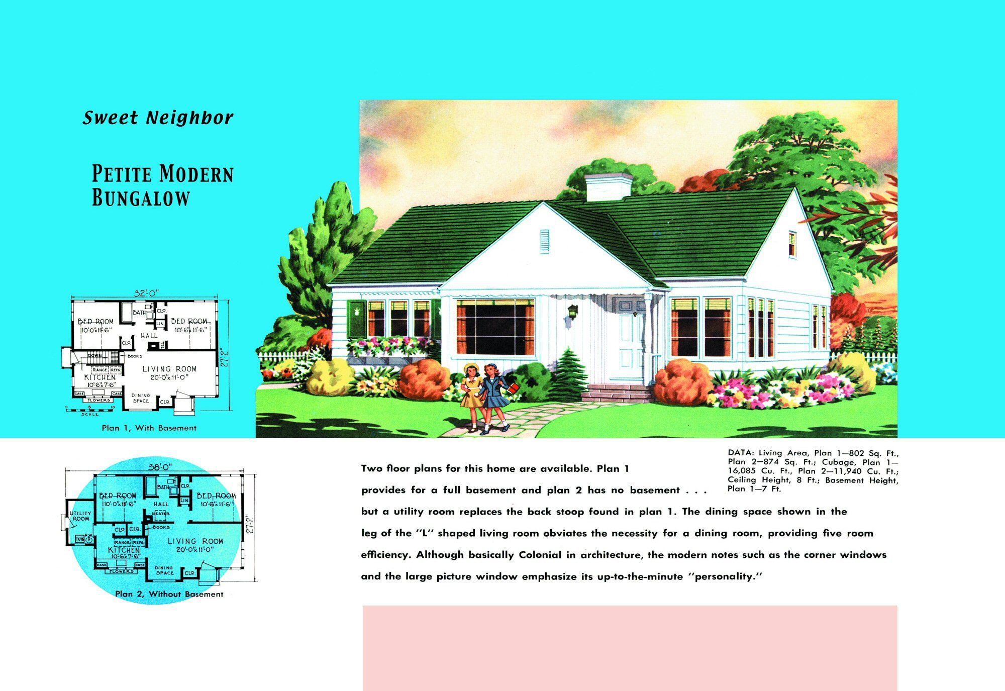 1940s And 50s House Plans Sweet Neighbor Houses And
