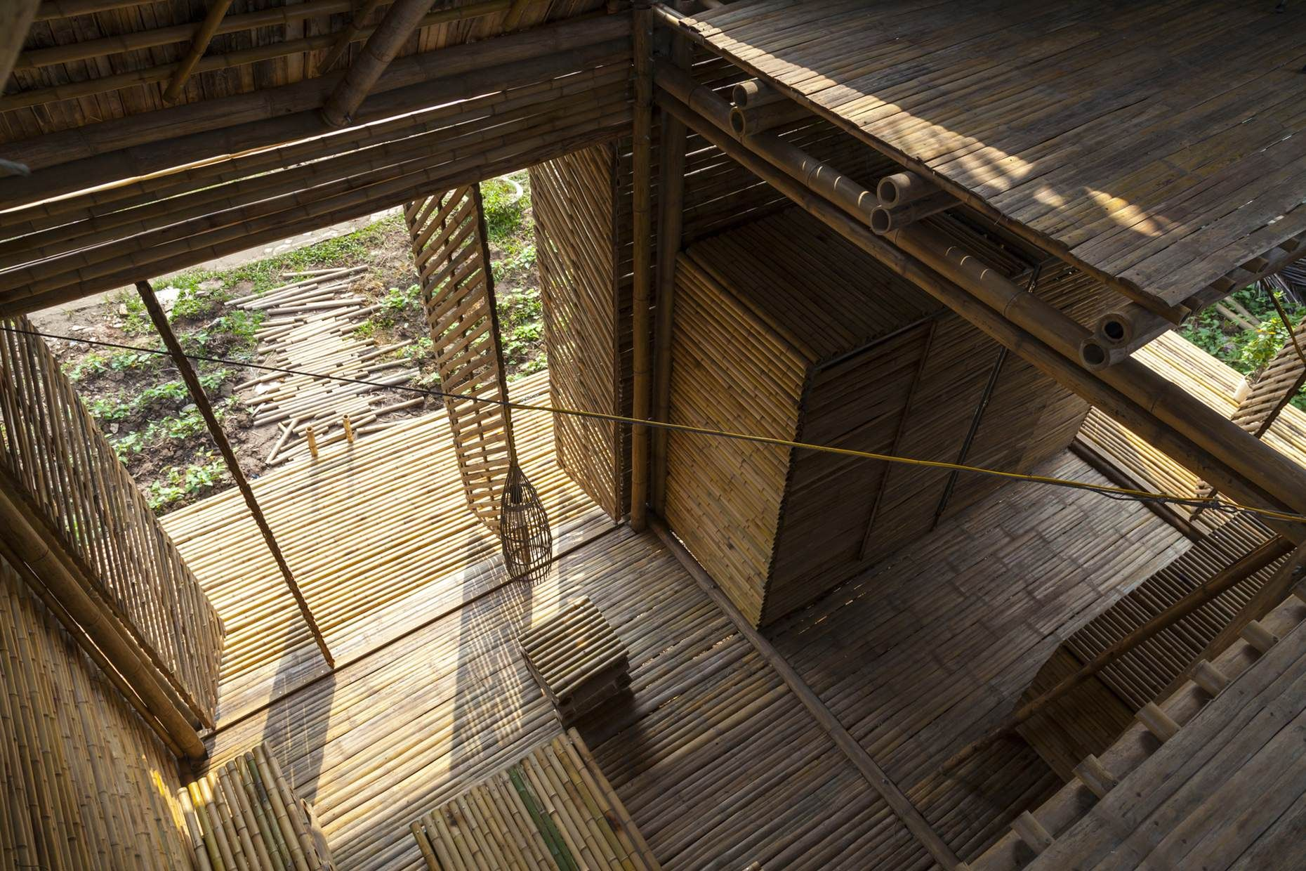 Vietnamese firm H&P Architects has produced a prototype home that will eventually be mass-sold to poorer Vietnamese people, called Blooming Bamboo (Photo: Doan Thanh Ha)