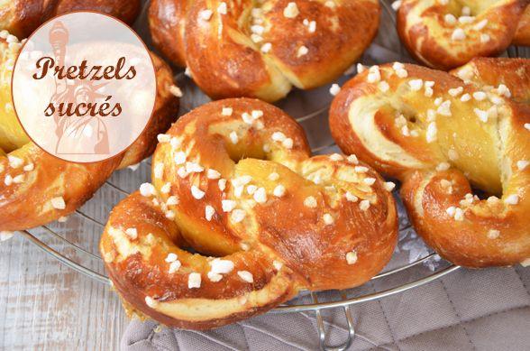 Délicieuse et très facile recette de pretzels sucrés