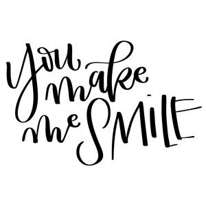Silhouette Design Store - View Design #136304: you make me smile