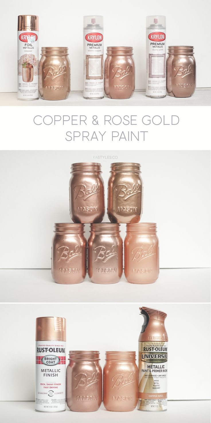 Krylon White Copper, Dusty Pink & Foil Metallic Copper. Rust-oleum Too! - Sprinkled and Painted at KA Styles.co