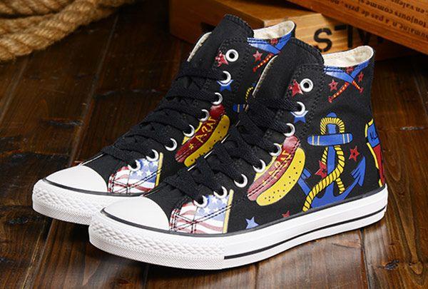 72bae72f20b7 All Star Black High Tops Converse Printing Style Chuck Taylor  S54102  -   58.00