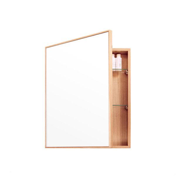 Puristischer Spiegelschrank Aus Eichenholz Spiegelschrank