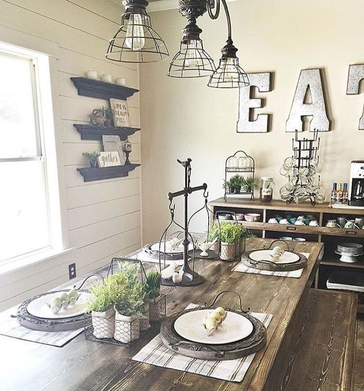 Farmhouse dining rooms pinterest set style decorating town amp country living